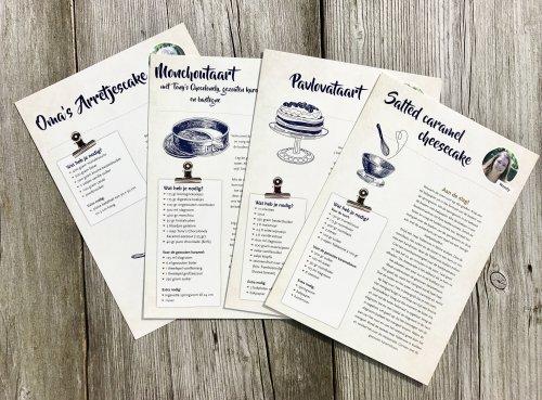 Eindredactie receptenkaarten De Espeterhoeve door Mermaid Media