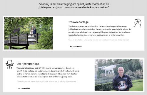 Webteksten Filmproductie G. van Lagen