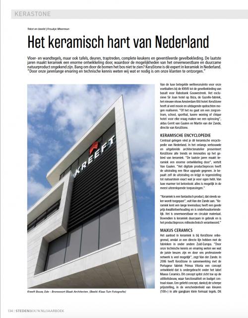 Advertorial KeraStone in Stedenbouw Jaarboek