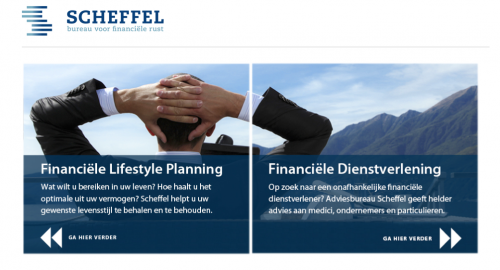 webteksten van Mermaid Media voor Scheffel.nl