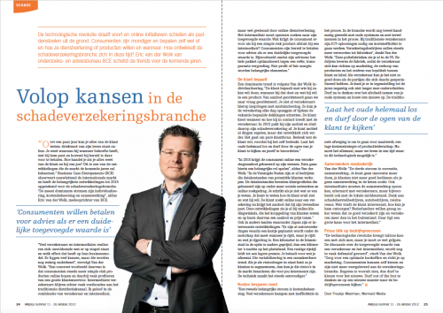 AM Plus - Eric van der Wolk BCE: Volop kansen in de schadeverzekeringsbranche